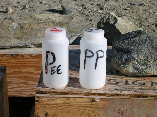 Pee bottles for backpackers