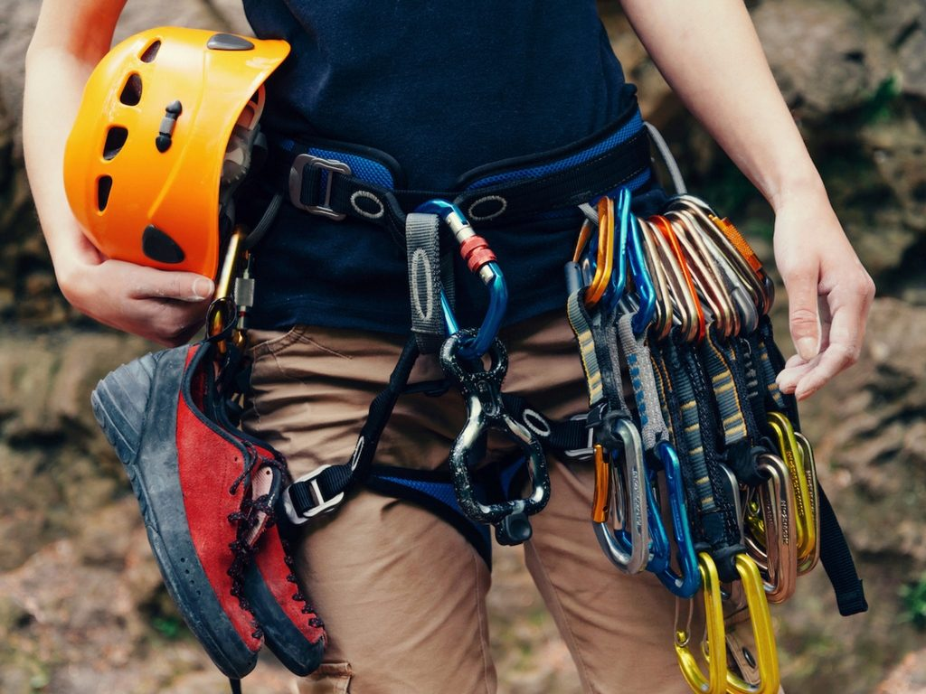 traditional climbing gear