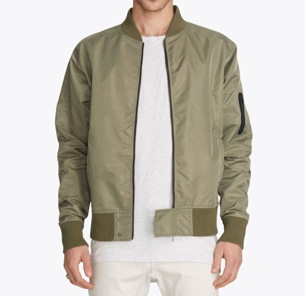 Zanerobe Flight Bomber Bone Jacket - olive