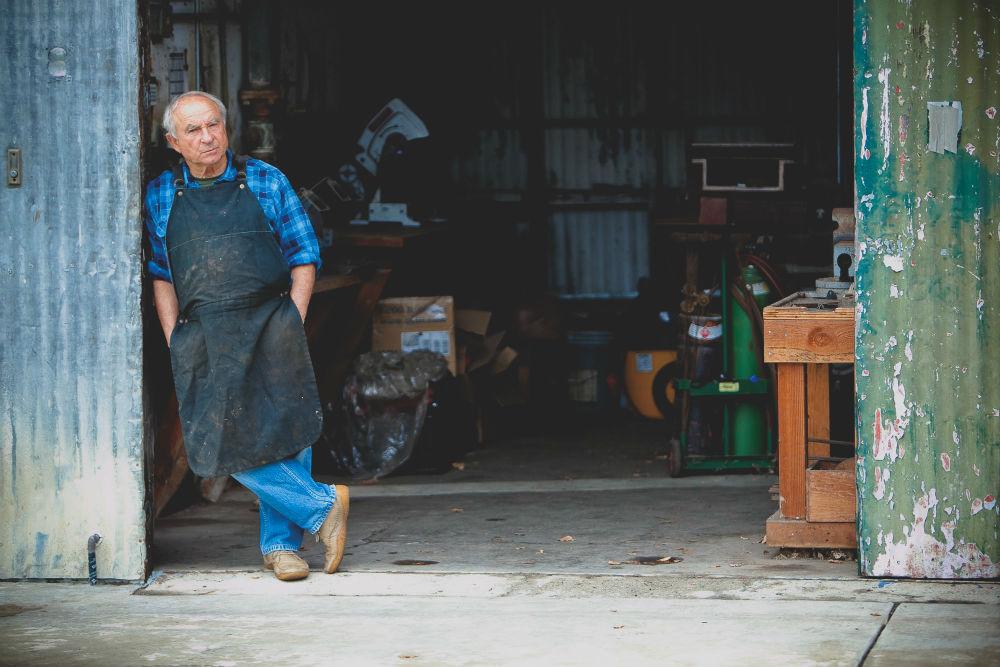 Yvon Chouinard at the Tin Shed, Ventura, CA 2010