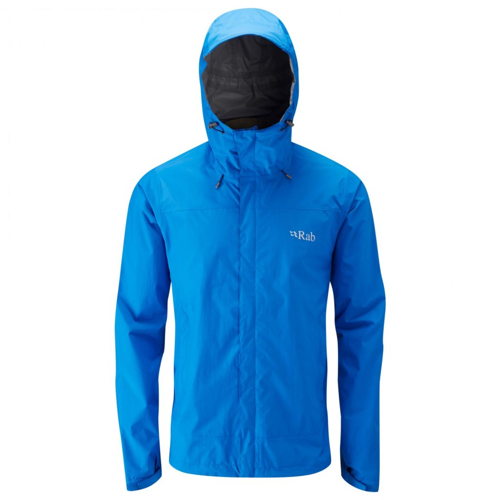 Rab Men's Rain Jacket Hardshell Downpour Jacket